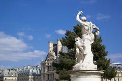 PARIGI, FRANCIA - 22 MARZO 2016: giardino famoso di Tuileries Tuileri Immagini Stock Libere da Diritti