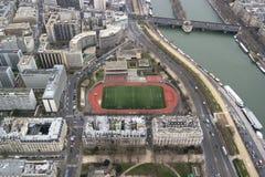 PARIGI, FRANCIA - 23 MARZO 2016: Vista aerea di paesaggio urbano di Parigi, fotografia stock libera da diritti