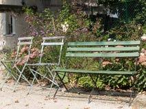 Parigi - giardini dedicati ad Auguste Renoir fotografie stock