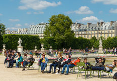 parigi Giardino di Tuileries Fotografie Stock Libere da Diritti