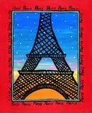 Parigi ha illustrato Fotografia Stock Libera da Diritti