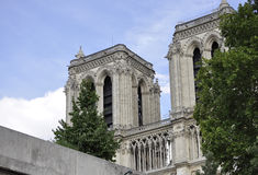Parigi, il 18 luglio: Dettagli di Notre Dame Cathedral da Parigi in Francia Immagini Stock