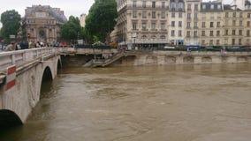 Parigi in inondazione Fotografia Stock Libera da Diritti