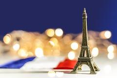 Parigi, la città della miniatura luminosa della torre Eiffel Fotografia Stock Libera da Diritti