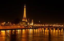 Parigi - la città di indicatore luminoso Immagine Stock Libera da Diritti