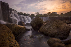 Parigi, la piccola cascata di Niagara Fotografie Stock