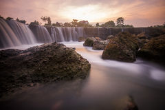 Parigi, the little niagara waterfall. Curug Parigi, a beautiful waterfall and landscape in Bekasi, indonesi, Indonesia. People call it a Little Niagara Royalty Free Stock Images