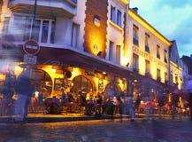 Parigi - Montmartre alla notte - La Boheme Immagine Stock
