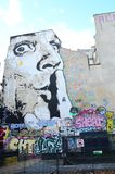 Parigi murala Dali immagini stock