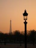 Parigi nell'alba Immagini Stock