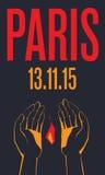 parigi 13 novembre 2015 Fotografia Stock Libera da Diritti