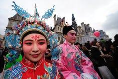 Parigi - nuovo anno cinese 2012 Immagine Stock Libera da Diritti