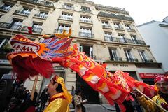 Parigi - nuovo anno cinese 2012 Immagine Stock