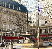 Parigi - Palais Royal Fotografia Stock Libera da Diritti