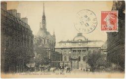 Parigi. Palazzo di giustizia Fotografia Stock Libera da Diritti