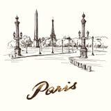 Parigi - Place de la Concorde Immagini Stock