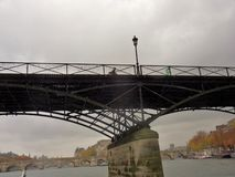 Parigi - Pont des Arts från Seinen Royaltyfria Foton