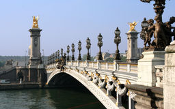 Parigi. Ponticello del Concorde Fotografia Stock Libera da Diritti