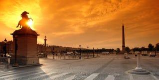 Parigi, posto del concorde Fotografia Stock