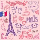 Parigi. vettore/illustrazione del modello di amore Illustrazione di Stock