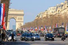 Parigi, viale di Champs-Elysees, Francia Fotografie Stock Libere da Diritti