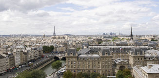 Parigi, vista da Notre Dame Immagini Stock Libere da Diritti