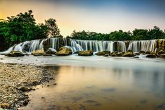 Parigi Waterfall. Location in Bekasi, westjava indonesia Royalty Free Stock Images