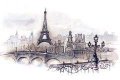 Parijs royalty-vrije illustratie