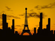 Parijs stock illustratie