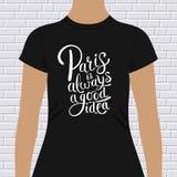 Parijs is altijd een goed ontwerp van de ideet-shirt royalty-vrije illustratie