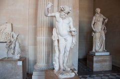 16 Parijs-AUGUSTUS: Grieks standbeeld in Louvremuseum op 16,2009 Augustus in Parijs, Frankrijk. Stock Foto's
