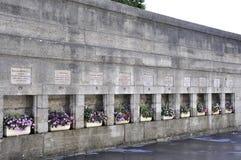 Parijs, augustus-20.2013-herdenking Muur in Parijs Stock Afbeeldingen