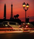 Parijs bij nacht Stock Afbeeldingen