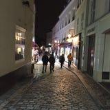 Parijs bij schemer Royalty-vrije Stock Afbeeldingen