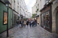Parijs bij schemer Stock Foto