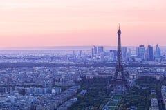 Parijs bij zonsondergang Royalty-vrije Stock Foto