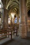 Parijs - binnenland van de gotische kerk van Heilige Severin Stock Fotografie