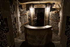 Parijs-catacombe-dood-8 Royalty-vrije Stock Foto