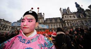 Parijs - Chinees nieuw jaar 2012 Stock Foto's