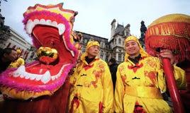 Parijs - Chinees nieuw jaar 2012 Stock Foto