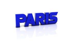 Parijs in 3d Stock Foto