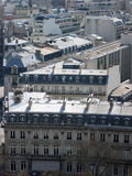 Parijs. Daken. Flats. Stock Foto's