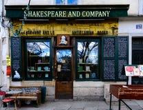 Parijs: De beroemde boekhandel van Shakespeare en van het Bedrijf royalty-vrije stock foto's