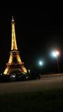 Parijs. De Toren van Eiffel in nacht Stock Foto