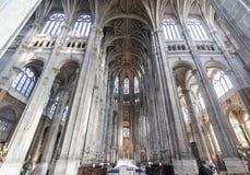 PARIJS, EGLISE HEILIGE EUSTACHE Februari 2018 Binnenland van de gotische Kerk van Heilige Eustache in Parijs Royalty-vrije Stock Afbeelding
