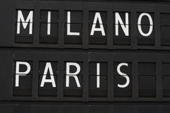 Parijs en Milaan - luchthaven Royalty-vrije Stock Foto