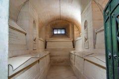 PARIJS, FRANKRIJK, 23 APRIL, 2016, Galerij met graven in het Pantheon stock foto