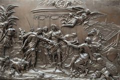 PARIJS, FRANKRIJK - AUGUSTUS 30, 2015: Beeldhouwwerkzaal van het Louvremuseum, Parijs, Frankrijk Stock Foto