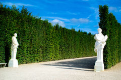 PARIJS, FRANKRIJK - AUGUSTUS 21, 2012: Franse paviljoen en tuin van Royalty-vrije Stock Afbeelding