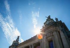 PARIJS - FRANKRIJK - AUGUSTUS 30, 2015: Het beroemde Grote Grote Paleis van Palais in Parijs Stock Foto